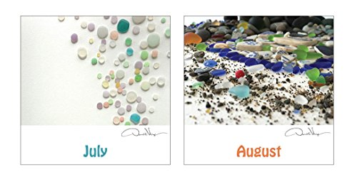 2017 Sea Glass Nature Calendar Great 12x12 Fine Art Wall or Desk Planner. Best Quality Christmas, Birthday & Valentine's Day Gifts for Men, Women and Kids. Unique New Year's Gift Idea.