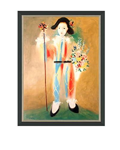 """Pablo Picasso """"Le Petit Pierrot Aux Fleurs"""" Framed Poster"""