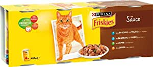 Friskies Chat - Multi Viandes Blanches-Poissons - 4 x 400 g