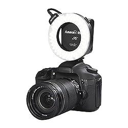 Aputure Amaran Halo AHL-HC100 CRI 95+ LED Macro Ring Video Light Flash Light for Canon Camera DSLR