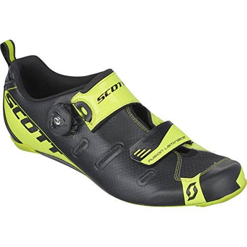 Scott Sports 2016 Men's Tri Carbon Triathlon Cycling Shoe - 242135-4755 (black/neon yellow - 46.0) (Scott Road Cycling Shoes compare prices)