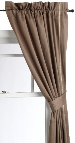 Croscill Home Cascade 41 by 84-Inch Pole Top Drapery, Chocolate