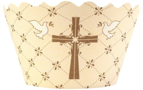 Bella Couture Faith Cross/Doves Cupcake Wrappers front-103248