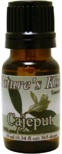Nature'S Kiss 100-Percent Pure Extremely High Quality Therapeutic Grade Cajeput Essential Oil, 0.34-Ounce