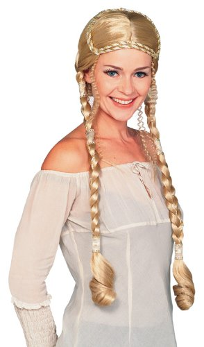 Rubie's Costume Blond Renaissance Lady Wig with Braids