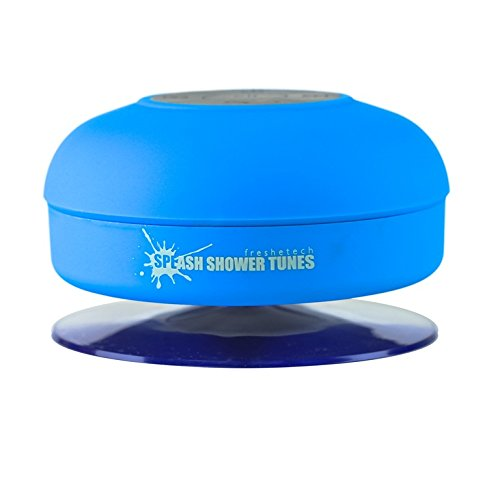 Splash Shower Tunes Waterproof Bluetooth Wireless Shower Speaker Portable Speakerphone (Blue) By FreshETech (639302304839)