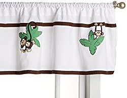 Saturday Knight Monkey Town Valance, 55 by 15