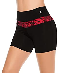 Women's Compression Shorts High Rise Low Cut at Leg Running Gym Workout Cardio