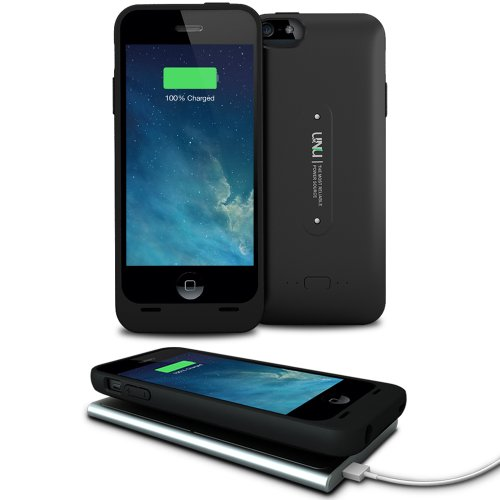 Special Sale uNu Aero Series iPhone 5S Battery Case / iPhone 5 Battery with Wireless Charging Technology - (Black, Fits All Models Apple iPhone 5S & iPhone 5)