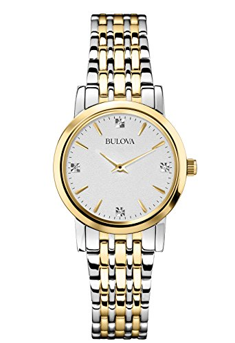bulova-diamond-womens-quartz-watch-with-silver-dial-analogue-display-and-gold-silver-ion-plated-brac