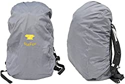 BlueField Outdoor Backpack Rain Cover Bag for Hiking Camping Water-resistant Gray S:32cm x 55cm x 15cm