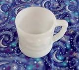 Vintage White Milk Glass Grog the Caveman Animated Comic Figure Coffee Cup Mug