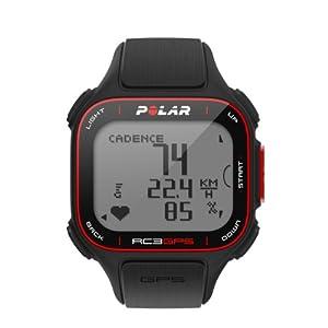 Pack Polar RC3 GPS Bike (incluye Candence Sensor) - Reloj con pulsómetro y GPS integrado y sensor de cadencia para bicicleta (incluido), compatible con sensor de zancada para running y ciclismo (negro)