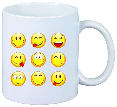 """Tazza/ Mug """"smiley felici"""" di ceramica, Smiley, Emoji, decorazione, di culto, Tazza da caffè Tazza da tè, Iphone, emoticon."""