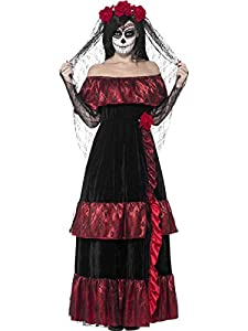 Smiffy's Women's Day Of The Dead Bride, Multi, Medium