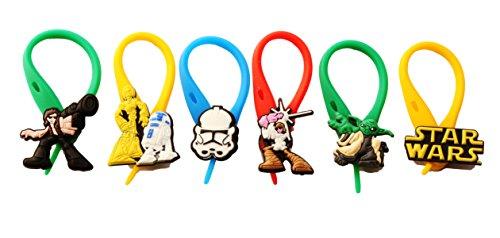 6 pezzi Star Wars Colorato Soft Zipper Pull Pendaglio di Zaino di Giacca