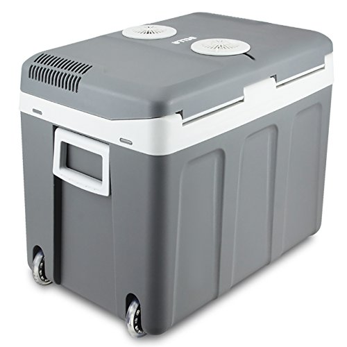 Della 40 Quart Portable 12V Electric Cooler/Warmer Thermoelectric Travel Camping RV w/ Wheels (Thermoelectric Travel Cooler compare prices)