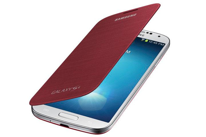 The Flip Cover Case protects your Galaxy S4 screen from smudges and