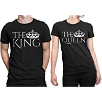 Dressify Couple t-shirt - The King and the Queen (Medium)