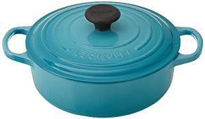 Le Creuset Signature Round Wide 3-1/2-Quart Dutch Oven, Caribbean
