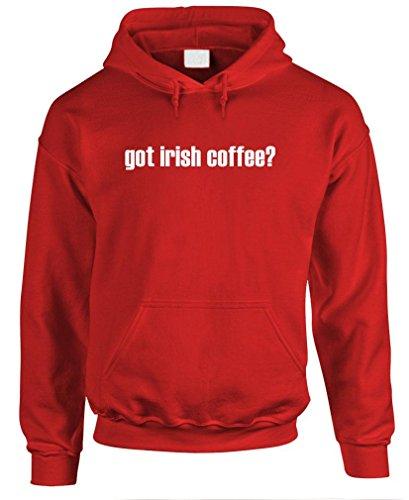 Got Irish Coffee? - Mens Pullover Hoodie, M, Red