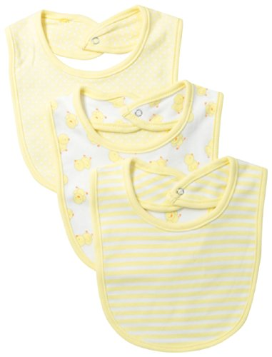 Vitamins Baby Unisex-Baby Newborn 3 Pack Set Of Bibs, Yellow, One Size front-1015761