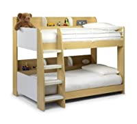 Happy Beds Domino Sleep Station Maple & White Bunk Bed 2x Mattress Kids Room New