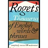 THESAURUS OF ENGLISH WORDS AND PHRASES (0582117712) by PETER ROGET