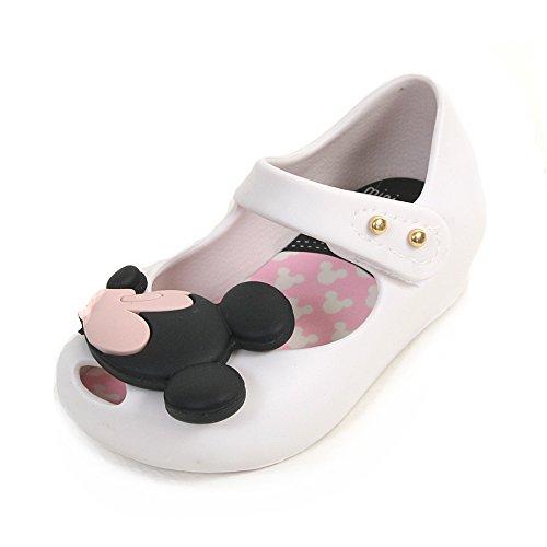 MINI MELISSA -Ballerina bianca in plastica MELFLEX, gomma profumata, di Topolino e Minnie , scarpa Disney, Bambina-21