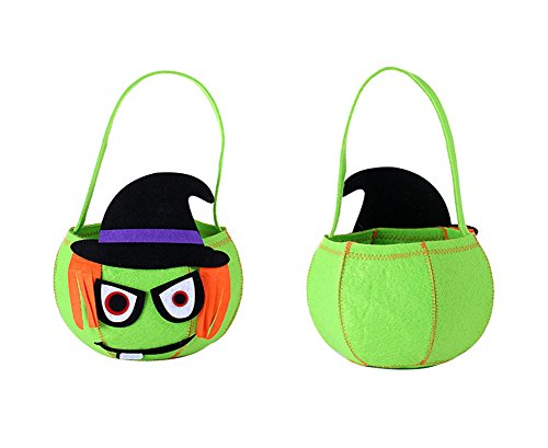 Halloween Pumpkin Kids Candy Goody Bag Basket for Halloween Party Costumes,Trick or Treat Tote (Pumpkin (Halloween Costume Party Ideas)