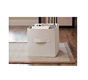 Better Homes And Gardens Collapsible Fabric Storage Cube Cream