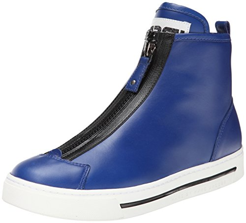 Marc by Marc Jacobs Women's Front Zip Fashion Sneaker, Mineral Blue, 37 EU/7 M US