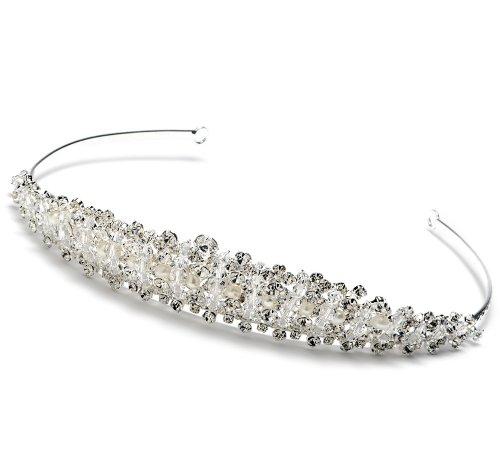 Wedding Tiara Bridal Headband with Rhinestone & Pearl 217