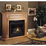 CFM Wall Cabinet for Gas Fireplace Insert - 36in., Honey Oak, Model# F0WH36 from CFM