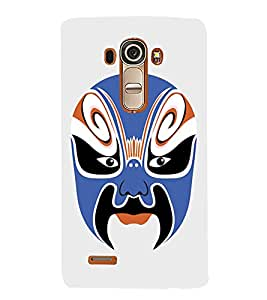 EPICCASE Beijing Opera Blue Mask Mobile Back Case Cover For LG G4 (Designer Case)
