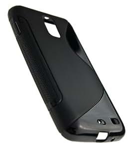 Black Soft TPU Gel Grip Skin Case Cover for Rogers Samsung Galaxy S2 4G LTE