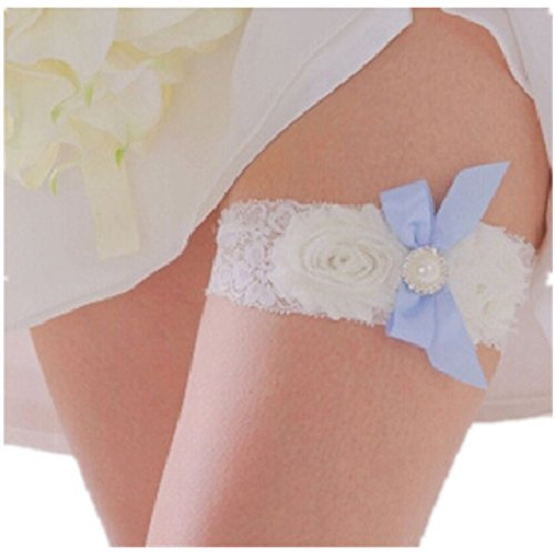 Bridal Lace Garter, Pearl Decoration Sexy Garter for Wedding Wear,Classic Series