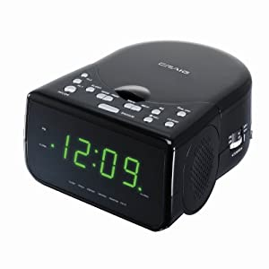 craig electronics cr41481 am fm stereo dual alarm clock radio with cd player black. Black Bedroom Furniture Sets. Home Design Ideas