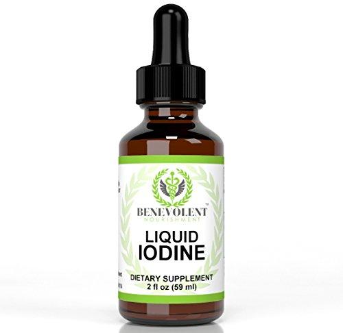Liquid Iodine Dietary Supplement as Potassium Iodide. Easy