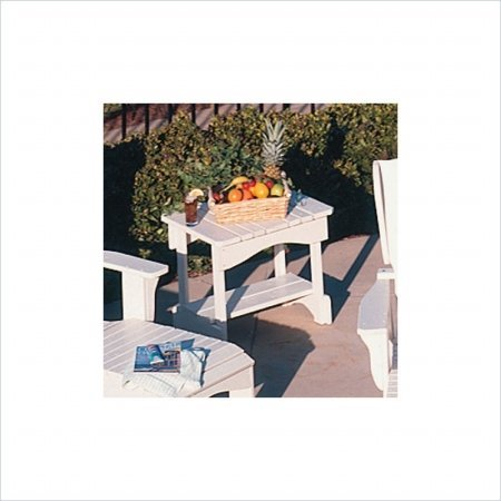 Uwharrie Chair 3040-013 Plantation Outdoor Side Table White front-64162