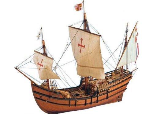 Maqueta de la nave La pinta en madera