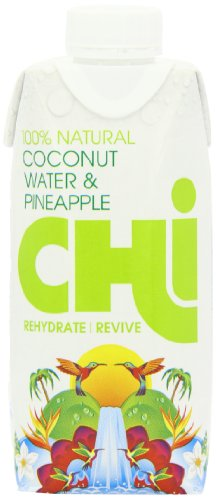 Chi 100 Percent Natural Coconut Water and Pineapple Case (Pack of 12)