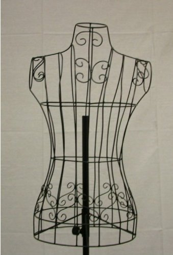 Brand New Female Black Steel Wire Mannequin Dress Form 33