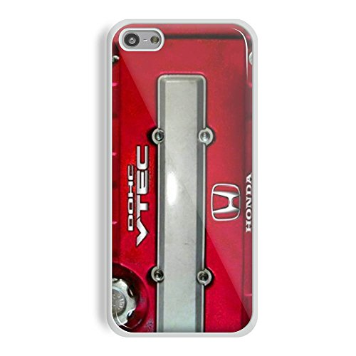 JDM Honda DOHC Vtech Valve Cover Red for Iphone and Samsung Galaxy (iPhone 5C white) (Honda Vtech Emblem compare prices)