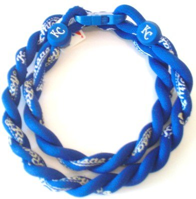 Kansas City Royals Titanium Tornado Twist Necklace (Blue) - 17.5 inch at Amazon.com