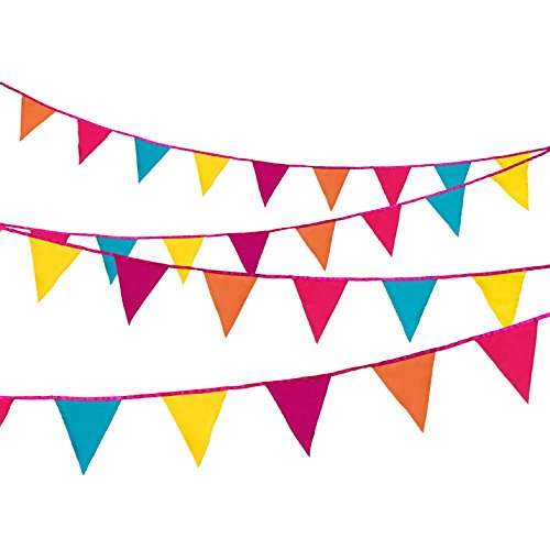 Talking Tables Decadent Dec's Fiesta Fabric Bunting, 3m, Multicolor