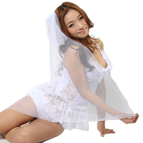 【World costume】 純白ウエディングコスチューム コスプレ セクシー 【ys008】