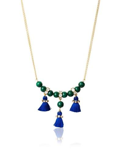 Diane Yang Designs Malachite Speakeasy Tassel Necklace