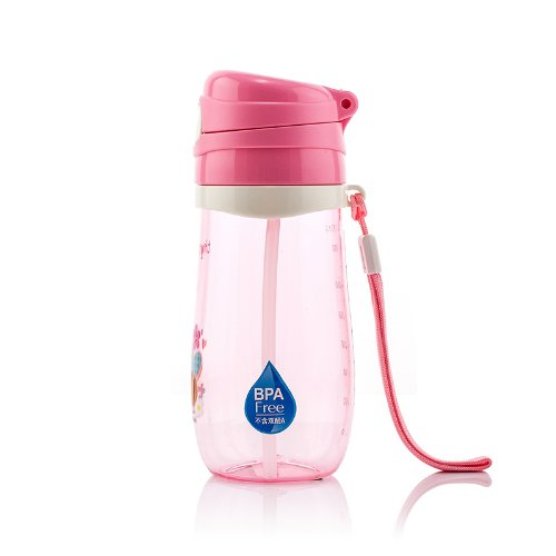 Timmy Kid's Water Bottle with Filp Straw,bpa Free,350ml,tmy-4121 (Pink) - 1
