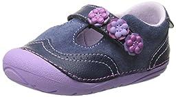Stride Rite SM Shiela T-Strap Mary Jane (Infant/Toddler), Navy, 3 M US Infant